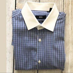 Hugo Boss Jonne Plaid Checker Dress Shirt